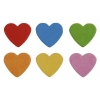 Wood Bead Heart 15/13/5mm Multi Colored